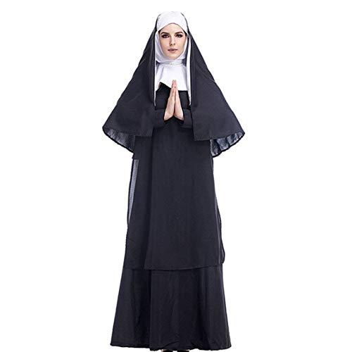 AIYA Halloween Kostüm Cos Jesus Christus männlich Missionar Priester Kostüm Priester Marian Nonne Kostüm Rollenspiel (Nonnen Und Priester Kostüm)