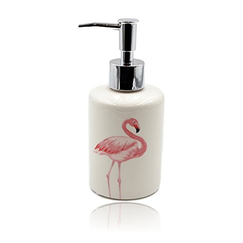 Flamingo Design Soap Dispenser Porcelain