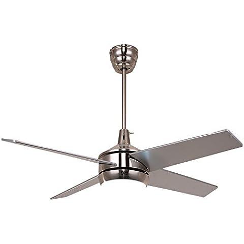 Telecomando ventilatori a soffitto con i kit di luci di Soggiorno Ciondolo lampada Foyer,marrone