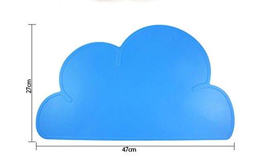Xinjiener Wolken-Silikon-Fütterungsmatten-Haustier-Behälter-Anti-Rutsch-Anti-Biss-Wasserdichte Matte (Blau)