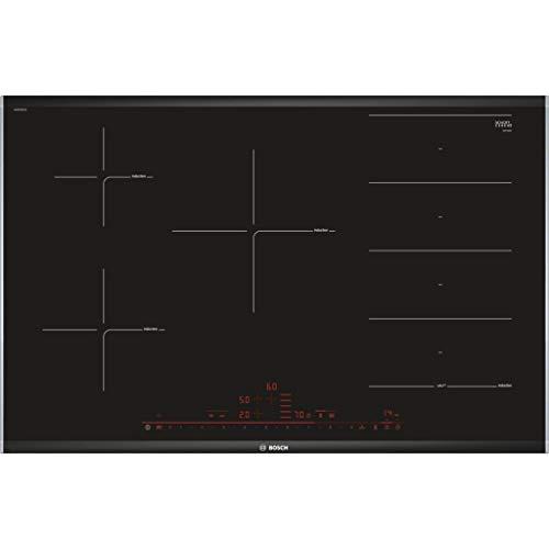 Bosch Serie 8 PXV875DC1E Integrado - Placa (Integrado, Placa de inducción, Vidrio y cerámica, Negro, 1400 W, Alrededor)