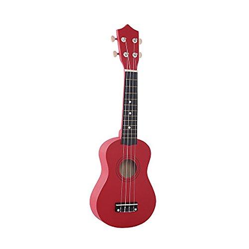 ChezMax Ukulele in Rot für Kinder und Neulings mit 22 x 8.2 x 56.3 cm und 0.6kg Aufblasbar Musikinstrument Gitarre
