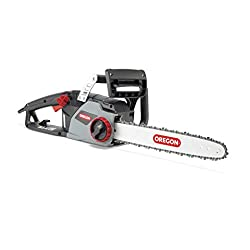 Oregon CS1400 Electric Chainsaw with 16-Inch (40 cm) Guide Bar DuraCut Saw Chain, 2400 W