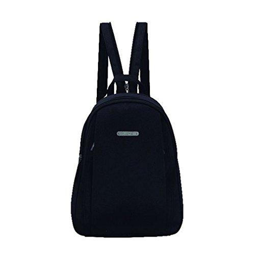 Stefano Rucksack Cityrucksack Handtaschenrucksack Backpack Citybackpack Schwarz / Synthetik ohne Klappe