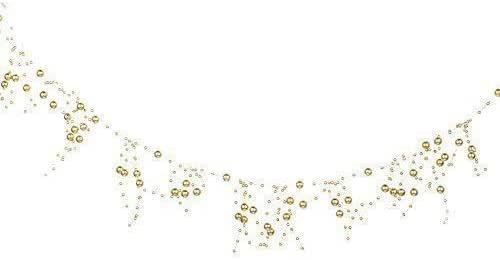 White or Silver Christmas Decoration 2.7 Metre SNOWFLAKE Bead Garland
