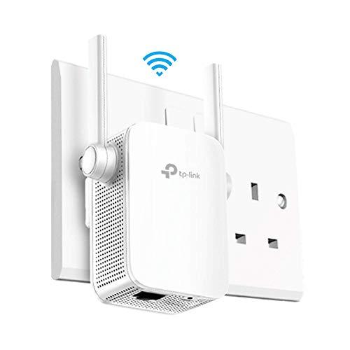 TP-Link AC1750Universal-Reichweitenverlängerer, für Breitband/WLAN/Wi-Fi, Hotspot mit 1Gb Anschluss und 3externen Antennen, integriertem Zugangspunkt-Modus, UK-Stecker (RE450) 11AC (Ac1750 Smart Wifi Router)