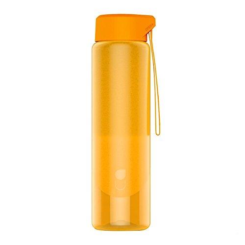 cambsports 600ml/Klauenhammer/Latthammer Sport Wasser Flasche mit rutschfesten Design, Wasser Tropfen Deckel mit elastische Schnur, breit Mund BPA-frei Loop Gap, Orange (Leben Stroh Flasche Wasser Filter)