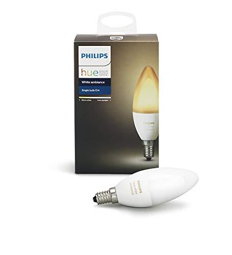Philips Hue White Ambiance - Bombilla LED individual, 6 W, E14, ilumin