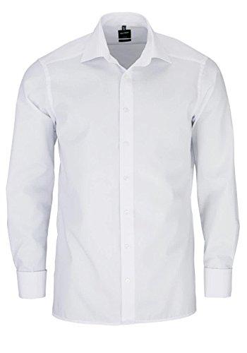 Olymp Herren Hemd Modern Fit Langarm Weiss (10) 42