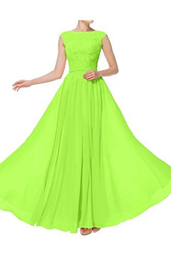 Ivydressing Damen Einfach lang Abendkleider Spitze A-Linie Festkleid Ballkleid Promkleider Jaegergruen