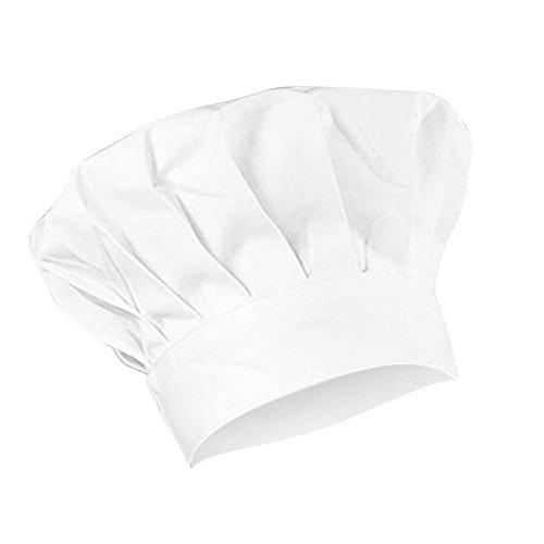 Queta Kochmütze für Kinder, zum Kochen, Bäcken, Catering, Chef, Arbeitskappe, verstellbar, Weiß