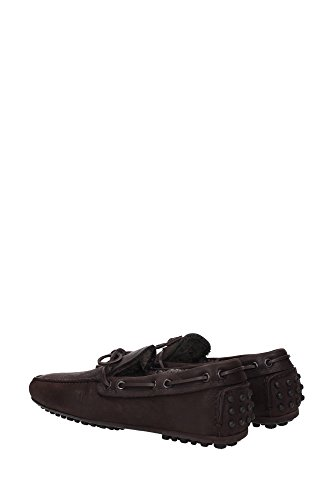 Car Shoe B9004 mocassino uomo con pelo interno scarpe marrone loafer shoe man Marrone