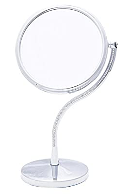 Danielle Creations Curved Crystal Stem Dressing Table Makeup Double Sided Vanity Mirror, 17.5 cm produced by Danielle Creations - quick delivery from UK.