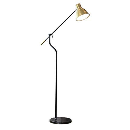 Home mall- Moderne Stehlampe mit langem Arm, Standleuchte mit Marmor Sockel fur Wohnzimmer Schlafzimmer E27 [Energieklasse A] -