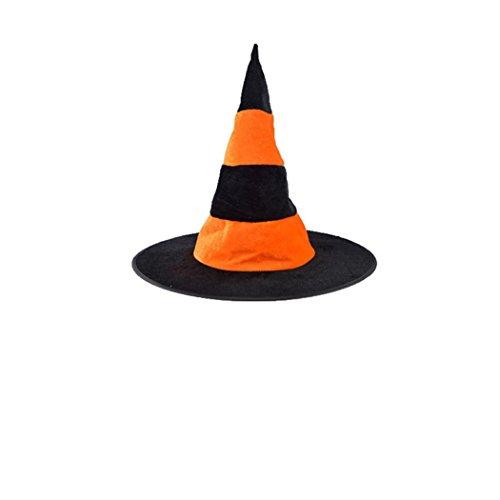 HCFKJ 1Pcs Femmes Adultes Chapeau Witch Noir Pour Halloween Costume Accessoire (1PC, Orange)