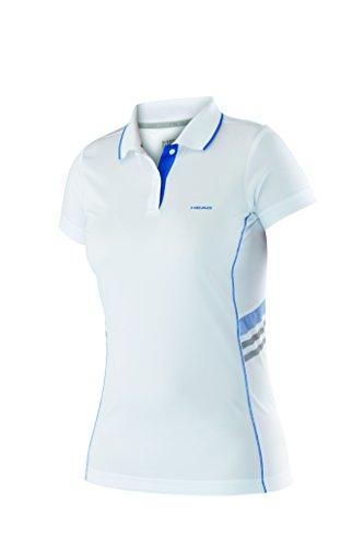 adidas Oberkörper-Bekleidung Club Polo Shirt Technical Women, 814675-WHBL, Weiß (Weiß/Blau), S (Weiße-kragen-polo-t-shirt)