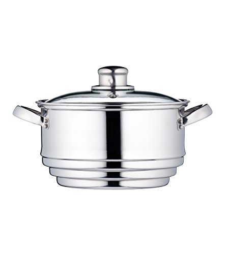 KitchenCraft Universal Stainless Steel Food Steamer Insert (to Fit 16, 18 and 20 cm Pans)