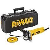 DeWalt DWE4156KD-QS - Mini-amoladora 115mm 900W 11.800 rpm Arranque Suave + Bloqueo y re-arranque + maletín + disco diamante