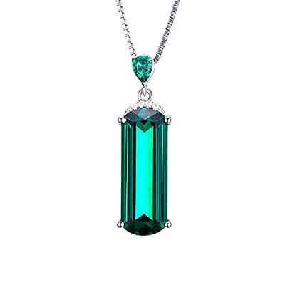 Jewelrypalace 4.42ct Damen Geschenk Synthetisch Grün Nano Russisch Smaragd Anhänger Halskette Kette Mit 45cm Box Kette Massivem 925 Sterlingsilber