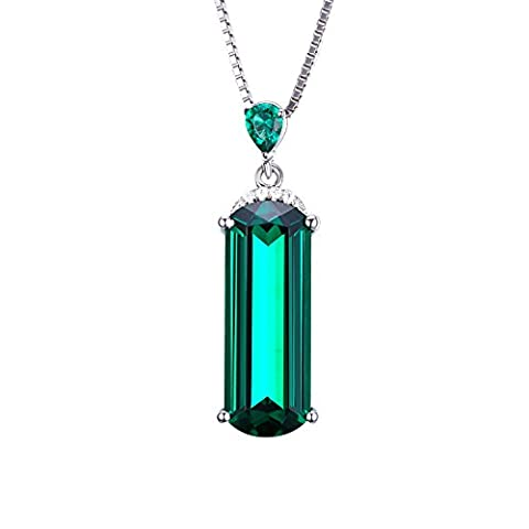 Jewelrypalace 4.42ct Damen Geschenk Simulierte Grün Nano Russisch Smaragd Anhänger