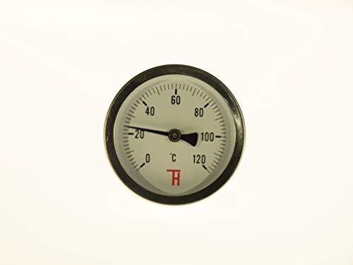 THERMIS Thermometer für Heizung Analog 63 mm, Anschluss von hinten G1/2 ETR (0-120°C)