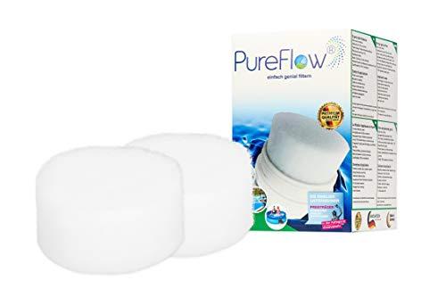 PureFlow Cartridge 3D Filterkartusche PFC-013.010.02 für Whirlpool - Jaccuzi - Aufstellpool, Poolfilter für Kartuschenfilter - Ersetzt BESTWAY Gr.2 Gr.II Modell 58094 (Whirlpool-wasser-filter 2)