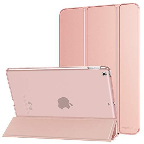 """MoKo Hülle für Neu iPad 10.2 2019, PU Leder Tasche Schutzhülle mit Transluzent Rücken Deckel Auto Schlaf/Wach Funktion für iPad 7. Gen 10.2\"""" 2019 Tablet - Rose Gold"""