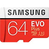 Samsung Evo Plus Grade 3, Class 10 64GB MicroSDXC 100 MB/S Memory Card With SD Adapter (MB-MC64GA/IN