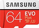 #9: Samsung EVO Plus Grade 3, Class 10 64GB MicroSDXC 100 MB/S Memory Card with SD Adapter (MB-MC64GA/IN)