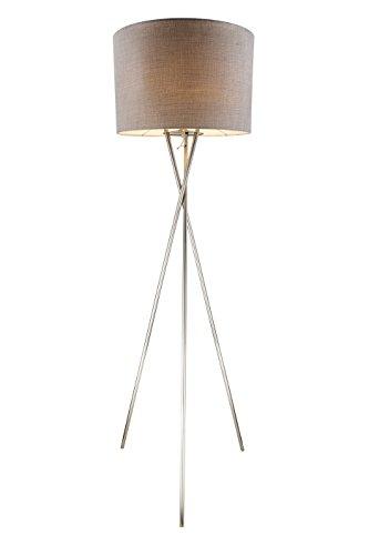 Luxus Steh Leuchte Stand Lampe Beleuchtung Stoff Lampenschirm rund E27 Decken Fluter Globo 15186S1 (Stand Lampenschirm)