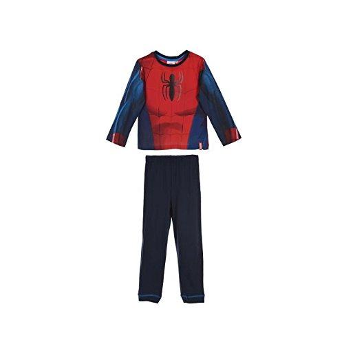 Pyjama long spiderman costume déguisement 100% coton rouge - rouge, 8 ans