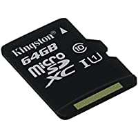 Kingston SDCS/64GBSP MicroSD Canvas Select 16GB UHS-I Classe 10 avec Vitesse de Lecture Allant Jusqu'à 80Mo/s (Carte Seule ) - Donnez Vie à Vos Vidéos HD