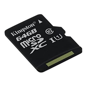 Kingston SDCS/64GBSP - MicroSD Canvas Select velocidades de UHS-I Clase 10 de hasta 80 MB/s lectura (sin adaptador SD)