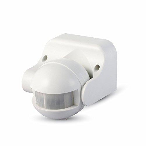 V-TAC SKU.4967rilevatore di presenza orientabile vt-8003, Plastica, e altro Materiaux, 300W, bianco, altezza x larghezza x profondità: 86mm x 60mm x 98mm
