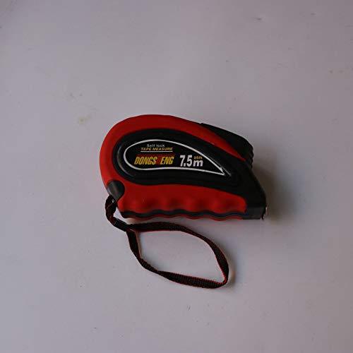 Jasnyfall Maßband Stahlband Einziehbares flexibles Lineal Dauerhafte Messwerkzeuge rot und schwarz 7.5mx25mm (Maßband Flexible Einziehbare)