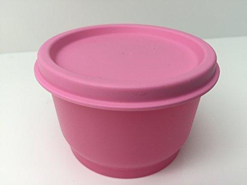 TUPPERWARE Kunterbunt Uno Dose Box Vorrat Uno Kühlschrank Mini klein Snack Baby Schnuller 120 ml (rose)