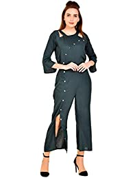 86ab45cd4653 Amazon.in  L - Jumpsuits   Dresses   Jumpsuits  Clothing   Accessories