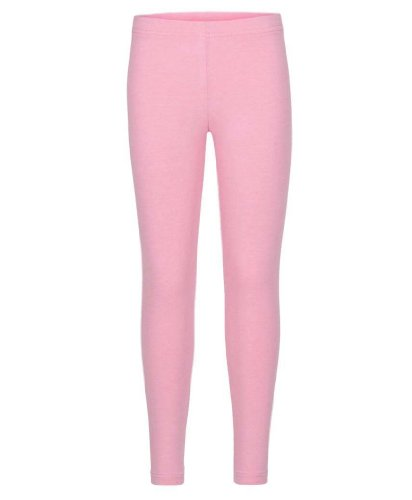 Kids Plain Leggings in Baby Pink 11-12 Years