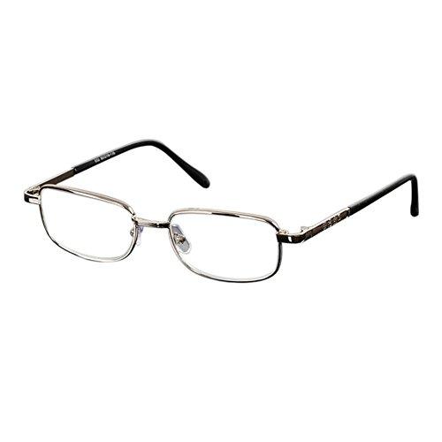 Deylaying Mujer Hombre Gafas de lectura Resina Lente Moda Metal Marco Lectura Gafas Alto Graduación 4.5 5.0 5.5 6.0
