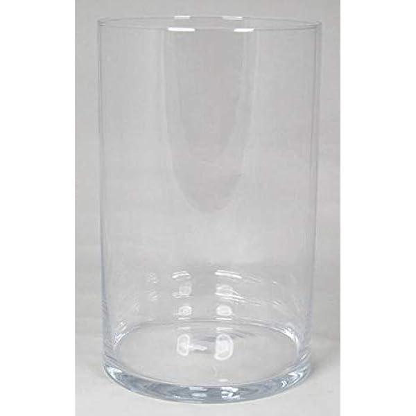 Transparent Vase Transparent INNA-Glas Vase /à Poser au Sol en Verre Sansa 60cm Vase cylindrique Rond Cylindre /Ø 19cm