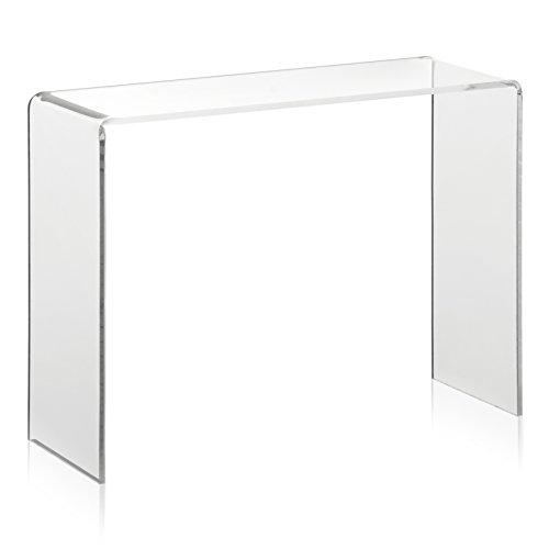 Warenträger als Deko-Brücke/Schuh-Display aus original PLEXIGLAS® (20x7x15cm) Präsentationsdisplay/Verkaufsständer aus Acrylglas -