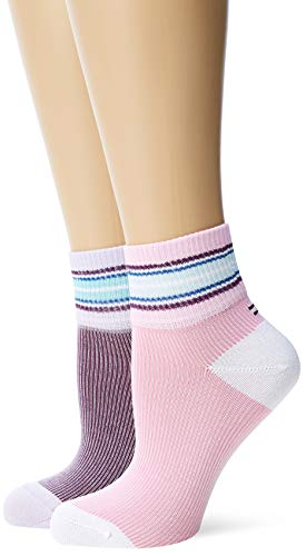 Tommy Hilfiger Damen Socken TH Women Indie Stripe Short 2P, 2er Pack, Violett (Lilac Hint 027), 39/42