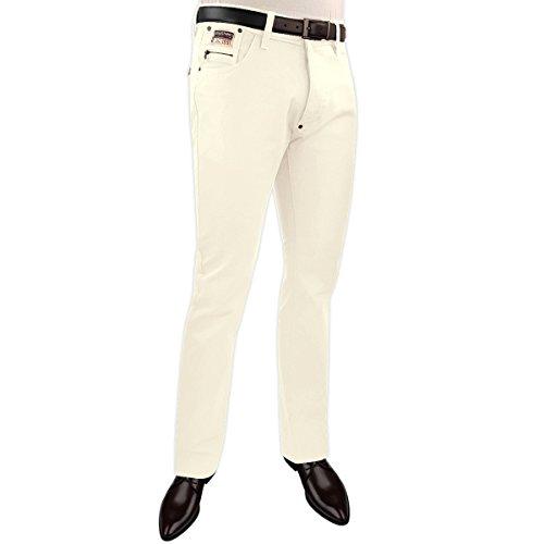 SEBASTIANO Herren Jeanshose Weiß