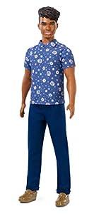 Barbie Fashionista - Muñeco Ken moreno con outfit azul (Mattel FXL61)