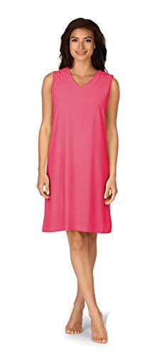 Comtessa Damen ohne Arm Strandkleid 191221 Pink Frottee Gr. 48-50 XL
