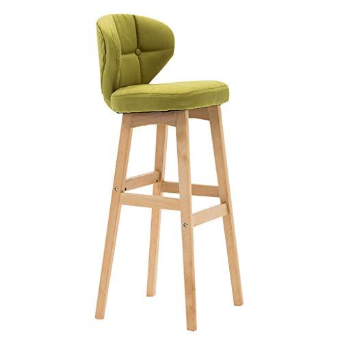 YeHuiTai Barhocker mit Rückenlehne und Hölzernen Bein Frühstück Stuhl Geeignet Für Bar Küche Zu Hause (Blau Frühstück Kissen)
