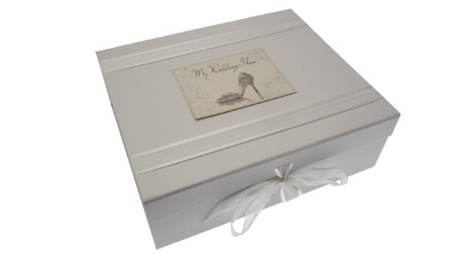 "White Cotton Cards Memobox ""My Wedding Shoes"""