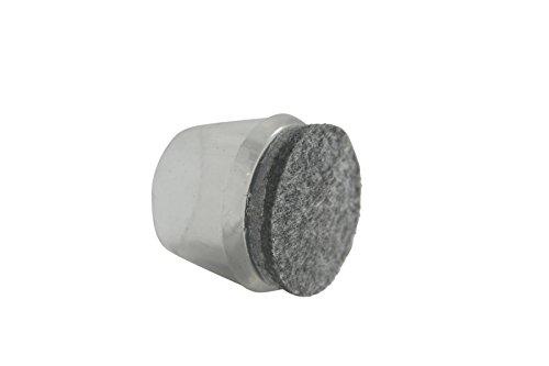 GLEITGUT 4 x Stuhlkappen mit Filz-Gleitfläche transparent für Stahlrohr 12-14 mm Fusskappen Filzgleiter