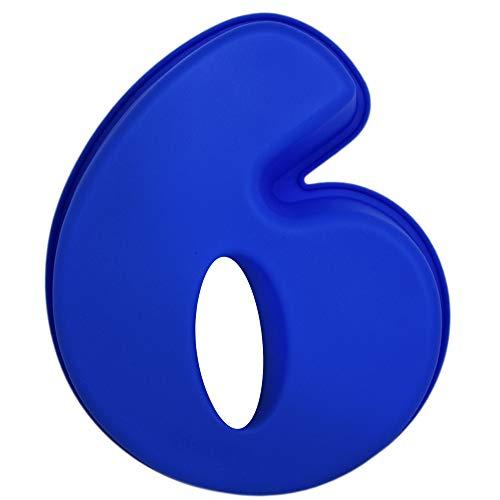 matana Große Prämie Silikon Anzahl Kuchenform (Zahlen 0-9) - Spülmaschinenfest & Mikrowellenfest - Perfekt für Geburtstage und Jubiläen - Für Kinder und Erwachsene zu genießen (6)