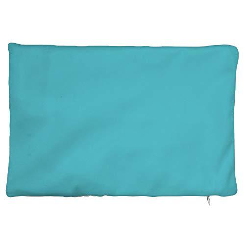 Blue Sunbrella-set (prz0vprz0v Throw Pillow Cover, Blue Indoor/Outdoor Pillows, Outdoor Lumbar Pillow, Solid Blue Sunbrella Pillow, Outdoor Patio Pillow 8 x 12 Inch)